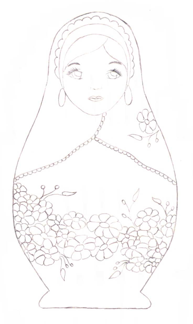 babushka coloring pages - photo#16