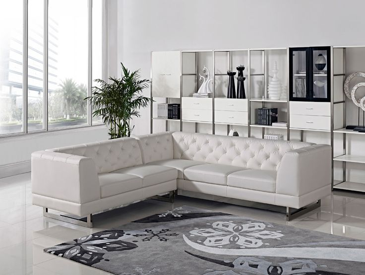 Divani Casa Windsor Modern Leatherette Sectional Sofa