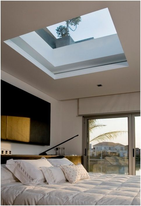 Bedroom skylight. Would need an automatic black out blind for sleep in days