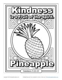 Fruit Of The Spirit For Kids Kindness Coloring Page Sfc 2017 Pinterest Sunday School