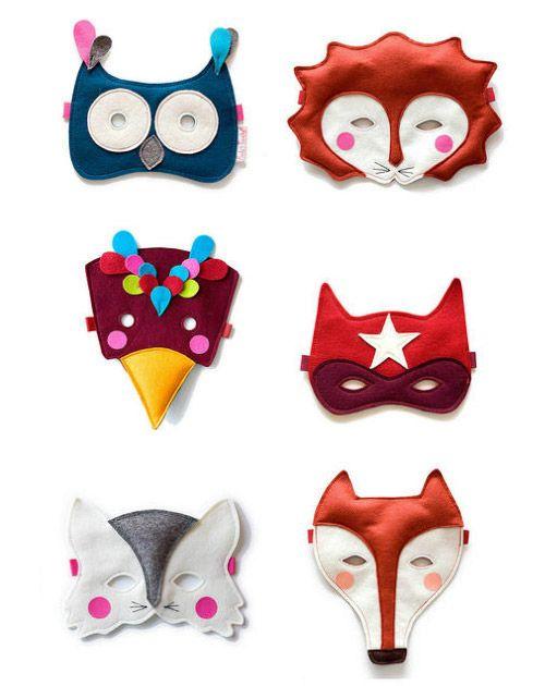 www.fridastierchen.com Animal Masks cute for Halloween. #boden #magicalmenagerie