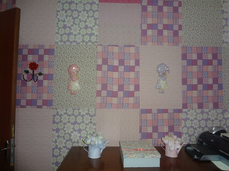 Revestimento Parede Quarto Infantil ~ Parede de quarto infantil  Revestimento de paredes com tecido  Pint