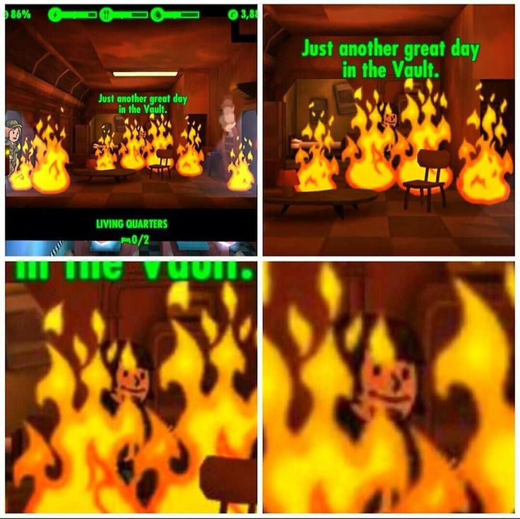 This is fine | Fallout | Know Your Meme
