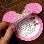 Original invitación de cumpleaños de Minnie Mouse