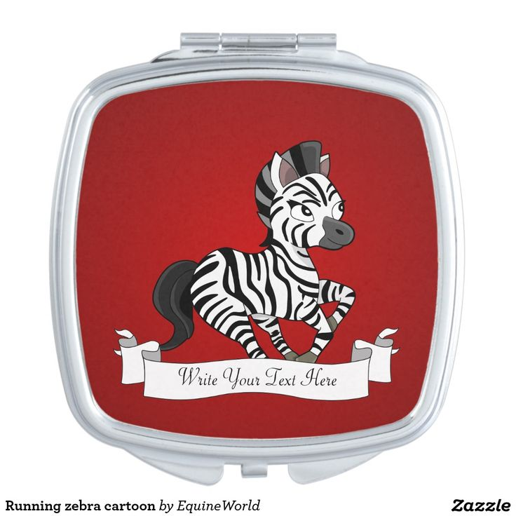 Running zebra cartoon mirror for makeup