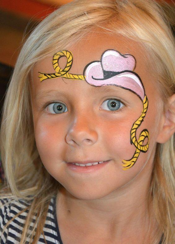 Cowboy face paint: