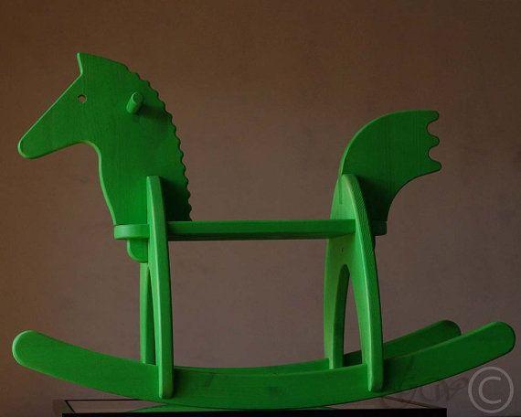 Wooden Handmade Rocking Horse Children Rocking by GreenWoodLT