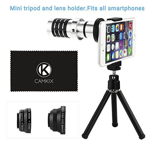 Eco-Fused Universal Smart Phone Camera Lens Kit including 12x Telephoto Manual Focus Lens / Fish Eye Lens / 2 in 1 Macro and Wide Angle Lens / Tripod / Lens and Phone Holder / Fits Most Phones -  http://www.wahmmo.com/eco-fused-universal-smart-phone-camera-lens-kit-including-12x-telephoto-manual-focus-lens-fish-eye-lens-2-in-1-macro-and-wide-angle-lens-tripod-lens-and-phone-holder-fits-most-phones/ -  - WAHMMO