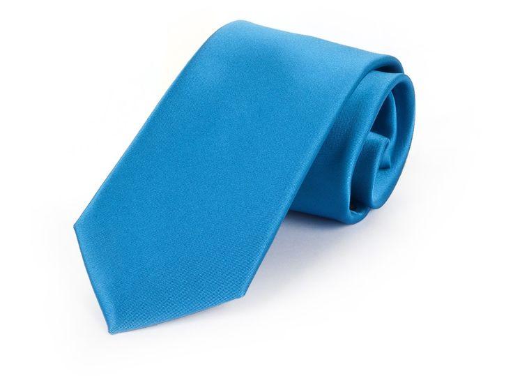 Schmale Krawatte aqua blau - etado.de   Firmen-Krawatten