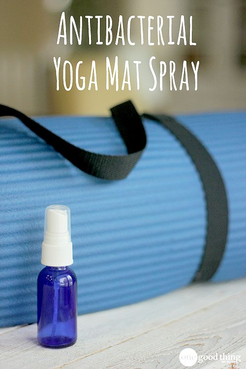 Make Your Own Antibacterial Yoga Mat Spray - One Good Thing by Jillee