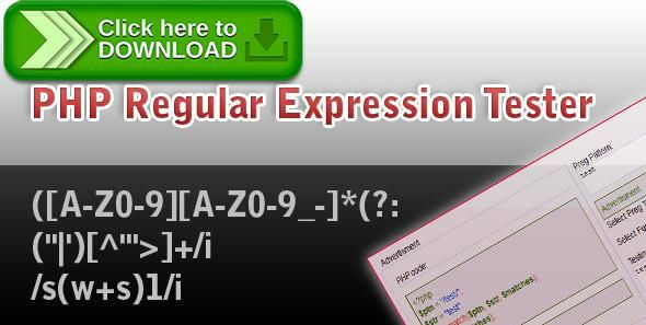[ThemeForest]Free nulled download PHP  Regular  Expression  Tester from http://zippyfile.download/f.php?id=50913 Tags: ecommerce, ajax, expression, jquery, php, regex, test