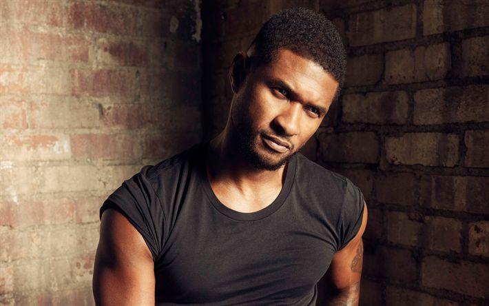 Descargar fondos de pantalla Usher, 4K, cantante Estadounidense, retrato, músicos exitosos, Usher Raymond IV