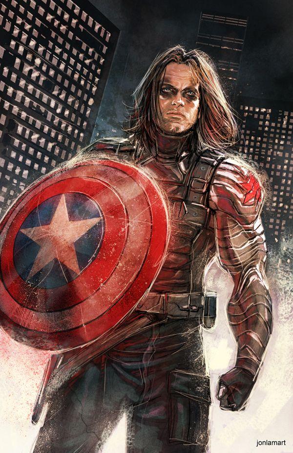"""jonlamart: """"Winter Soldier Fanart…dude is a pure badass! -JonLamArt www.jonlamart.carbonmade.com jonlamart@gmail.com """""""