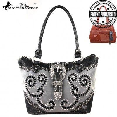 MW206G-8304 Montana West Concealed Handgun Collection Handbag - Handbag