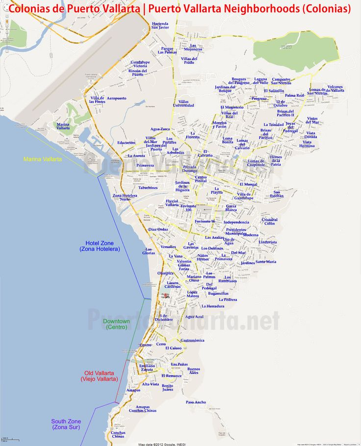 The main colonias (neighborhoods) in Puerto Vallarta, see more and read a little about them at: http://www.puertovallarta.net/fast_facts/puerto-vallarta-colonias.php  #puertovallarta #vallarta #colonias #neighborhoods #jalisco #mexico