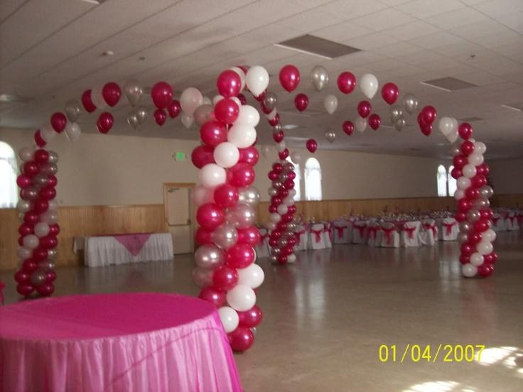 Quinceanera Hall Decorations Pink quinceanera hal...