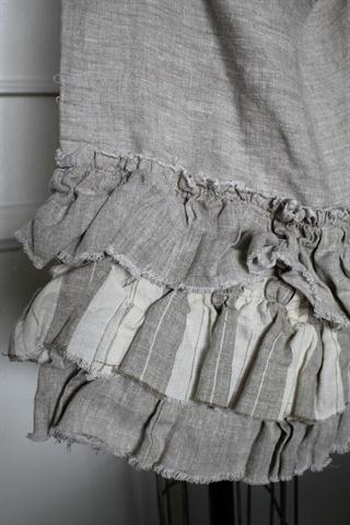 ruffles in linen