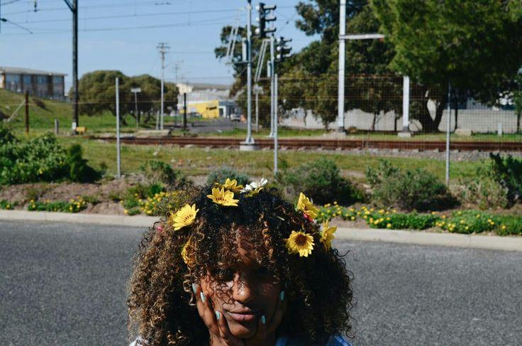 curly yellow flowergal
