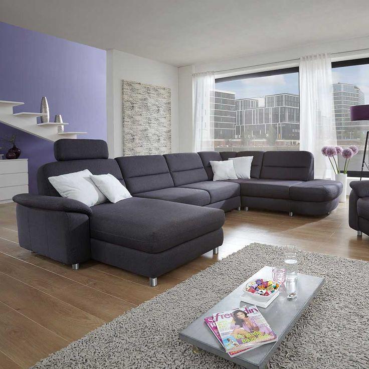 Wohnlandschaft In Anthrazit Bettfunktion Jetzt Bestellen Unter Moebelladendirektde Wohnzimmer Sofas Wohnlandschaften Uid01a4b937 8eee 53ab B768