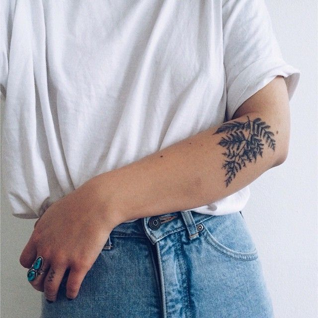 Handpoked fern tattoo by @sylviewell #sticknpoke #machinefree