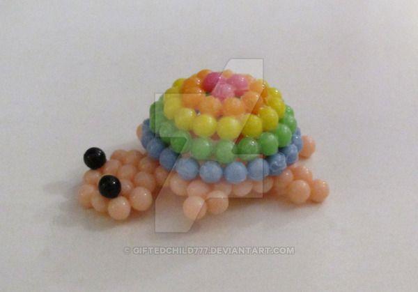 Rainbow Turtle AquaBeads beados