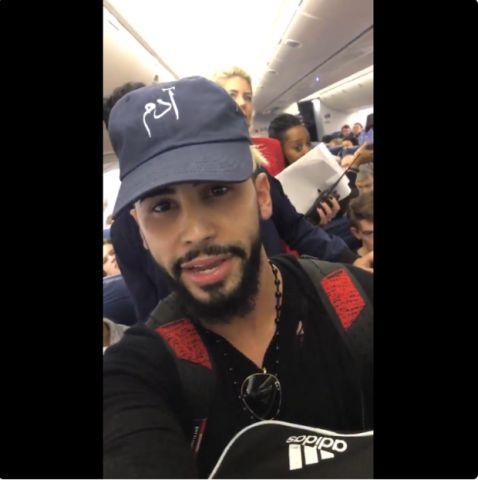 Sosyal medya fenomeni Adem Salih, Arapça konuştuğu için uçaktan indirildi