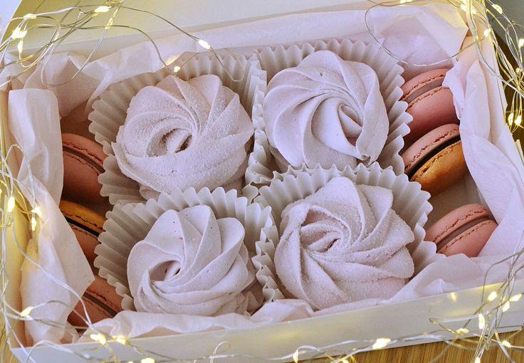 Zefir and macarons by Kolva's Bakery