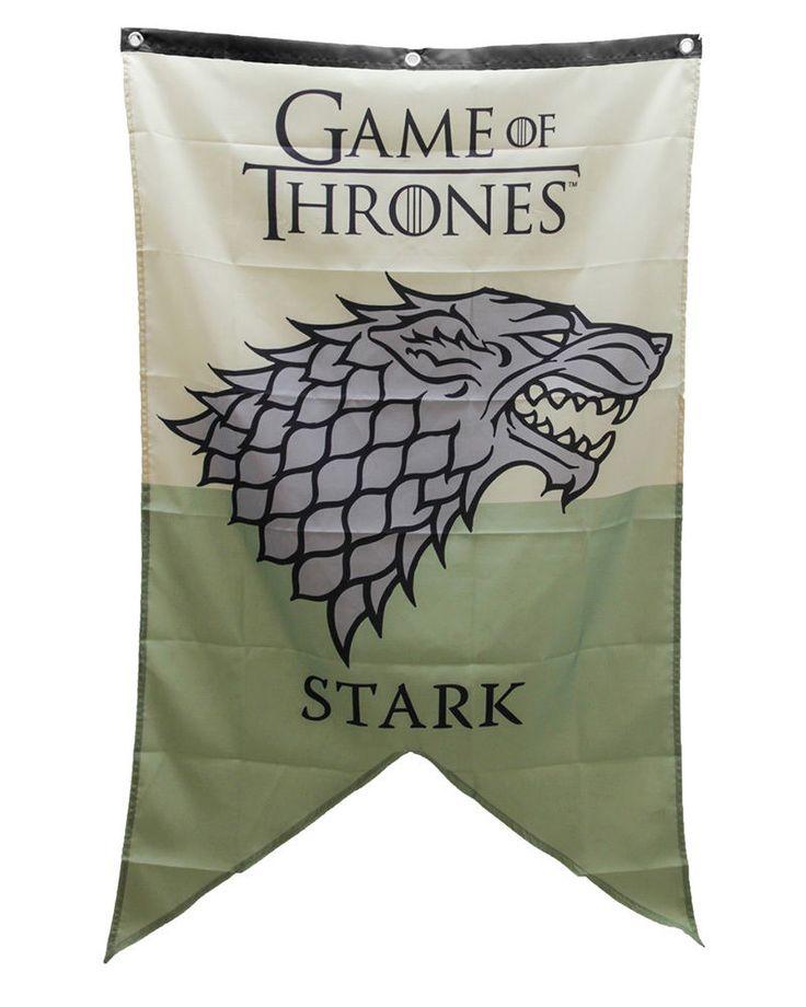"""Game Of Thrones House #Stark #Flag 30""""x50"""" Banner"""