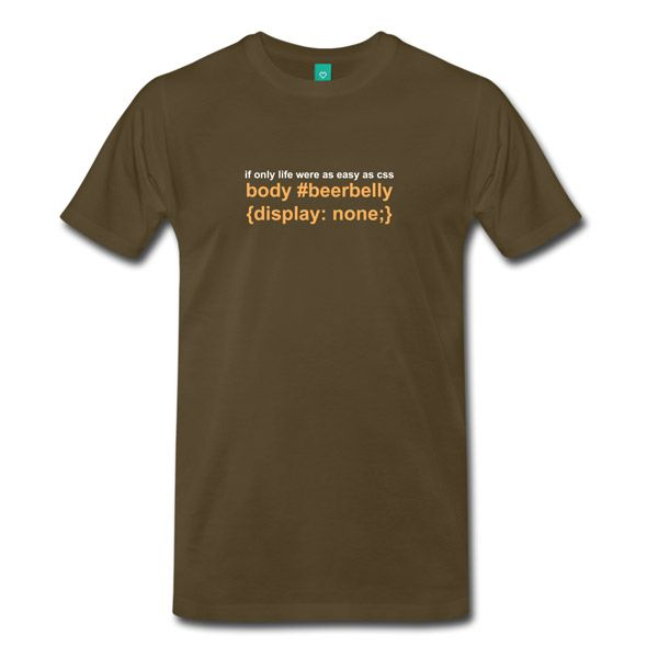 Buy T Shirts For Graphic U0026 Web Designers   Beer Belly Display None