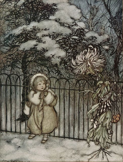Peter Pan in Kensington gardens / by J. M. Barrie / with drawings by Arthur Rackham. London : Hodder and Stoughton, 1906.
