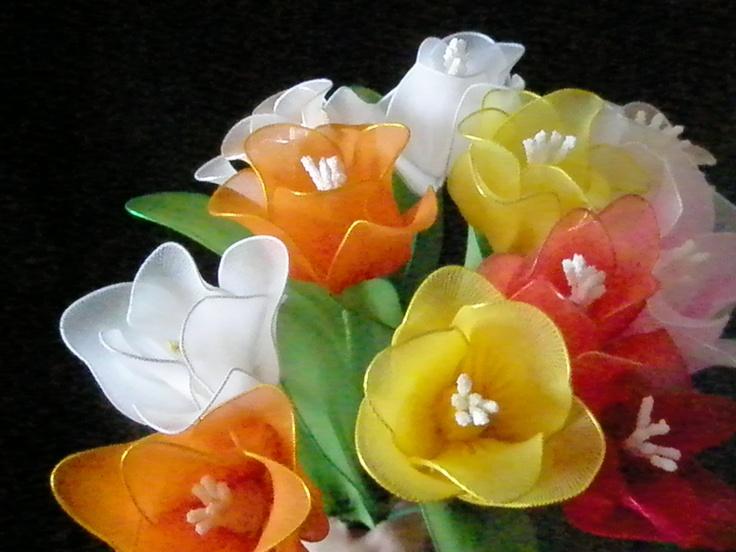 PHOTO ONLY Nylon flowers - Handmade Nylon Flowers And Jewelry