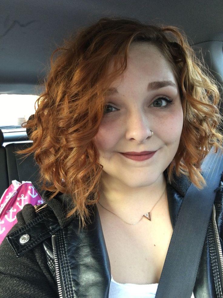 Short, asymmetrical haircuts do work with curly hair!