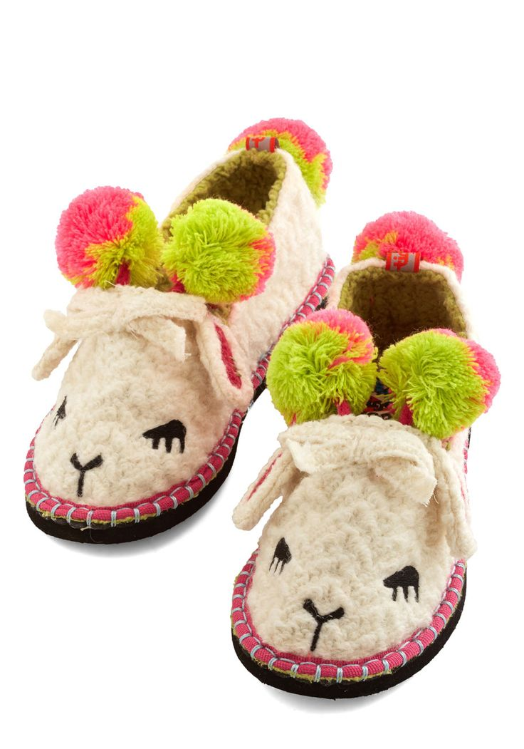 For Feet's Sake Slippers in Lamb, @ModCloth