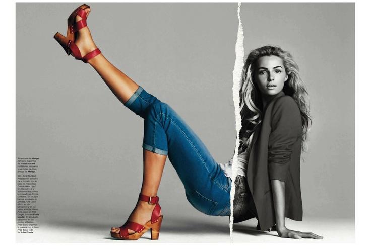 Etiqueta RoJa | Valentina Zelyaeva |  Gonzalo Machado #photography | Harper's Bazaar Spain April 2012 #mixed_media #collage
