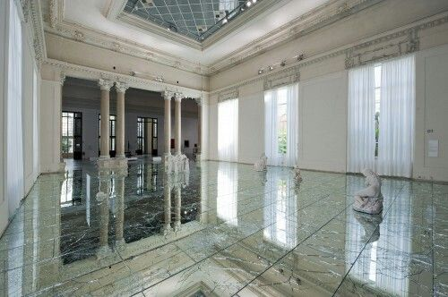 Broken mirror floor, Italy