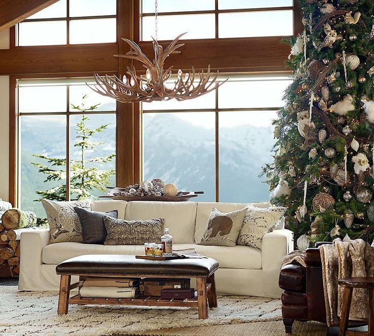Woodland Christmas home decor by Pottery Barn.
