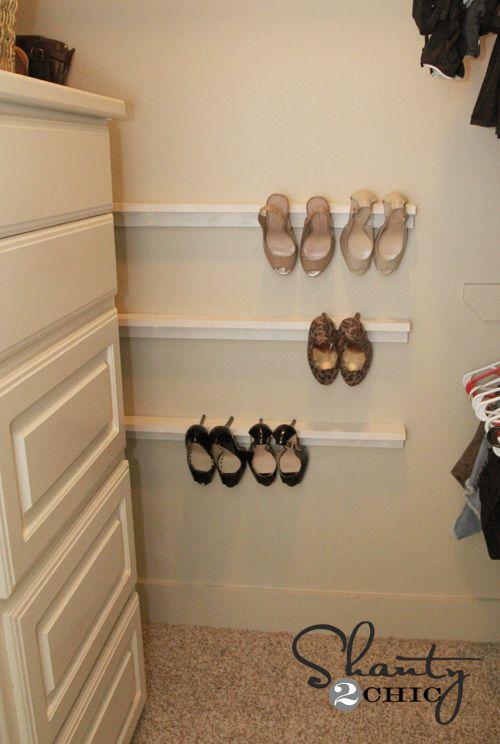 Closet Organization – Shoe Organizers DIY