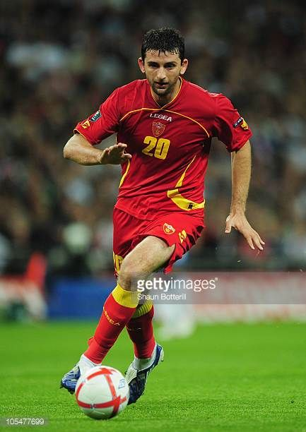 Miodrag Dzudovic of Montenegro in action during the UEFA EURO 2012 Group G Qualifying match between England and Montenegro at Wembley Stadium on...