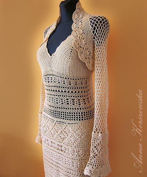 www.polandhandmade.pl, #polandhandmade, #CrochetDress, #Bolero