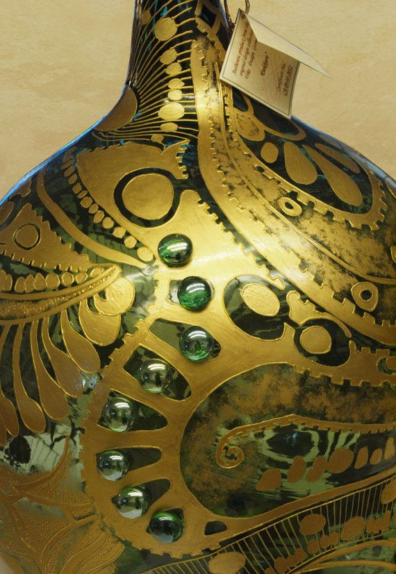 Beautyful hand painted vintage Demijohn Daccara  von ViReDesign  Dimensions: 20 Liter Höhe: ca. 52cm,  Durchmesser: 34cm ____________________________________ 5.28 gallons Height: 20.47 inches  Diameter: 13.39 inches (at its widest point)