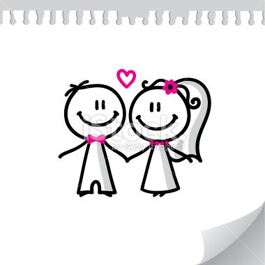 cartoon wedding couple Royalty Free Stock Vector Art Illustration