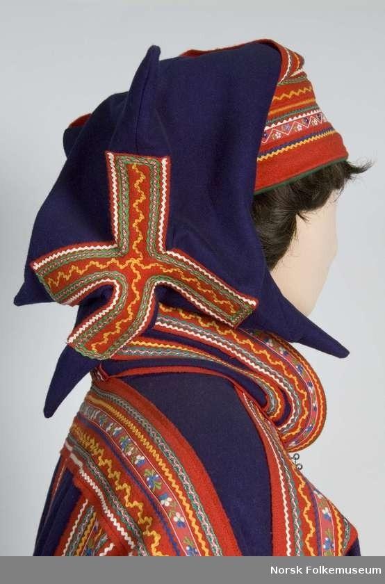 Nordic Sami hat from Kautokeino, Norway.