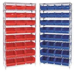 """Wire Shelving Systems for Store-More 6"""" Shelf Bins (QSB Series)"""