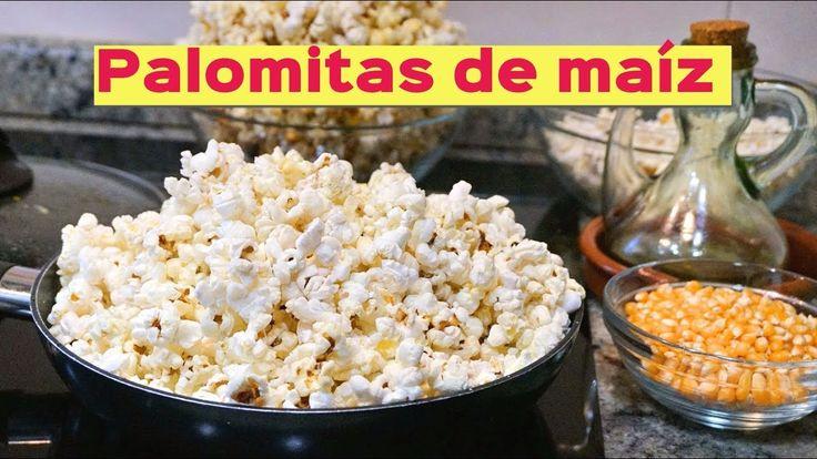 Palomitas de maíz a  la sartén y microondas (dulces y saladas)