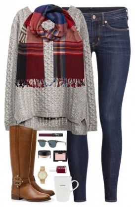 25 Winter Outfits to Copy Right Now scarf+skinny jean+jean+boots+winter
