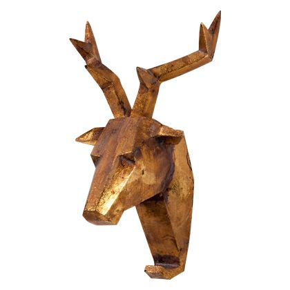GEOMETRIC DEER HEAD WALL HOOK