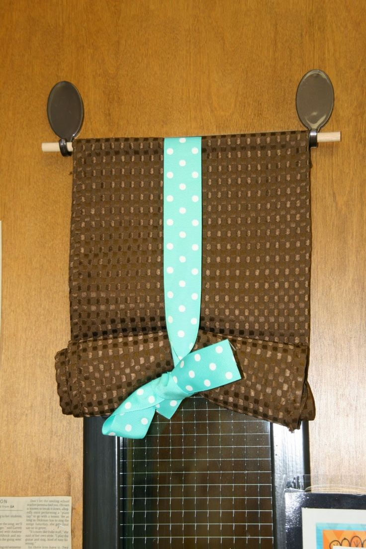 10 Best Organizing Tips for the Classroom  Door window shade with dowel rod and hooks.  (You do need to buy or make the shade.  Untie the bow, and you can quickly cover your window.