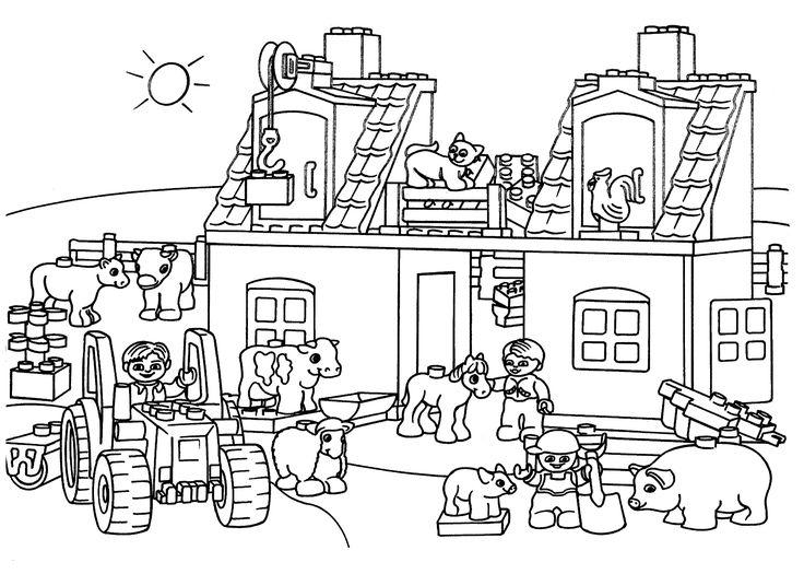 lego farm coloring page for kids printable free lego. Black Bedroom Furniture Sets. Home Design Ideas