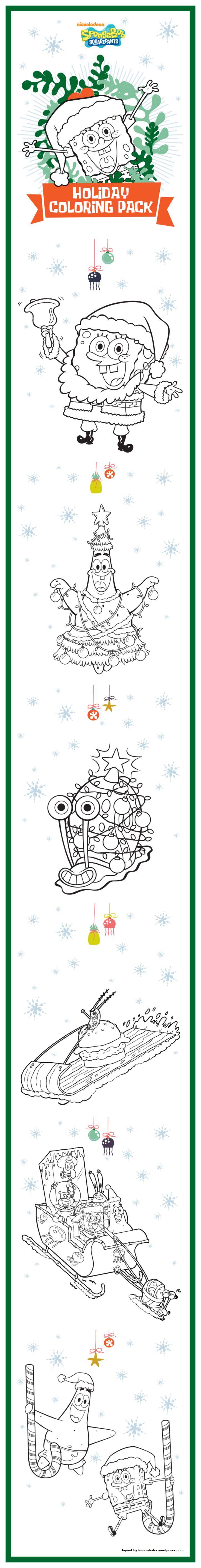 Spongebob Santapants Happy Holidays Coloring Pack