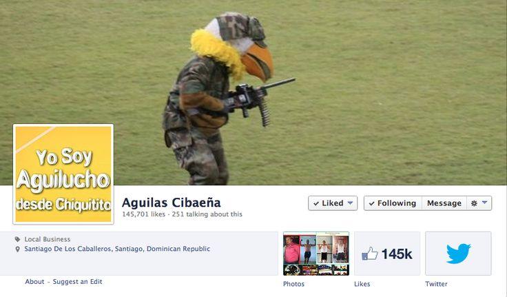 Páginas no oficiales de las Aguilas Cibaeñas lideres en FACEBOOK